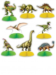 8 mini centrotavola dinosauri