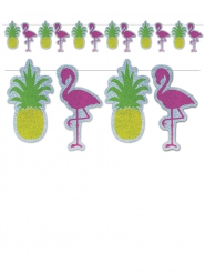 Ghirlanda ananas e fenicotteri da assemblare