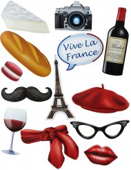 Kit photobooth 13 accessori tema Francia