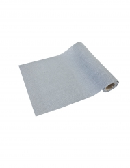 Runner da tavola effetto tela di iuta grigio