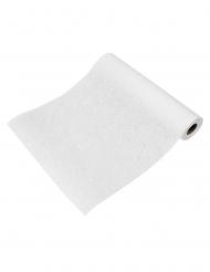 Runner da tavola tessuto non tessuto floreale bianco