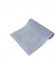 Runner da tavola tessuto non tessuto floreale grigio