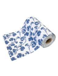 Mini runner da tavola motivo floreale blu