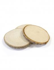 4 segnaposto dischetti di legno