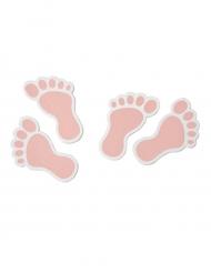 10 coriandoli in legno piedini rosa
