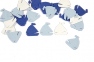 Coriandoli da tavola barche a vela blu