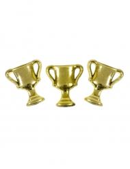 10 coriandoli da tavola coppe dorate
