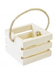 Mini cassetta in legno con manico