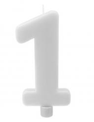 Candelina gigante bianca numero 1