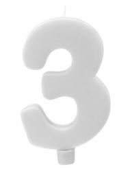 Candelina gigante bianca numero 3