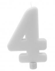 Candelina gigante bianca numero 4