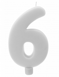 Candelina gigante bianca numero 6