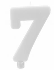 Candelina gigante bianca numero 7