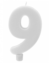 Candelina gigante bianca numero 9
