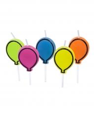 5 candeline a forma di palloncini colorati