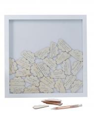 Libro per firme cornice con nuvolette di legno