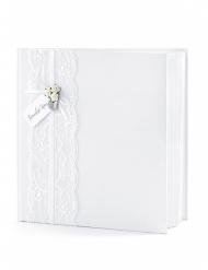 Libro per firme bianco con pizzo