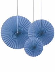 3 rosoni decorativi blu