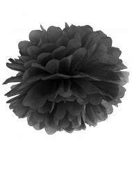 Pompom in carta da appendere nero 25 cm