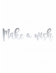 Ghirlanda fai da te Make a wish color argento