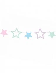 Ghirlanda fai da te con stelle multicolor