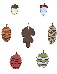 7 decorazioni di carta a tema autunnale