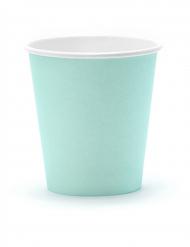 6 bicchieri in cartone color verde acqua