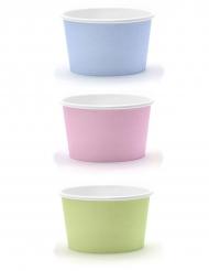 6 coppette color pastello