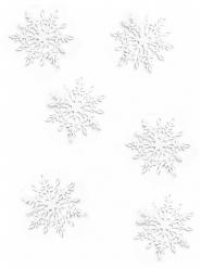 20 coriandoli da tavola fiocchi di neve bianchi