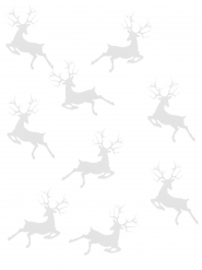 20 coriandoli da tavola renna di Natale bianchi