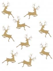 20 coriandoli da tavola renna di Natale oro