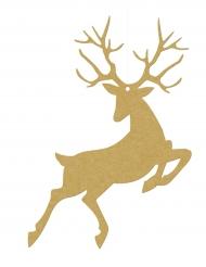 10 sospensioni di carta renne di Natale oro