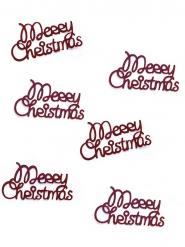 Coriandoli da tavola rossi Merry Christmas