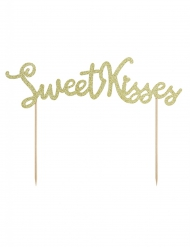 Decorazione per dolci Sweet Kisses color oro