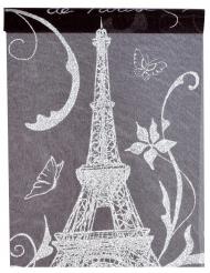 Runner da tavola in tessuto Parigi nero e bianco