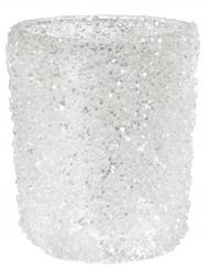 Portacandele bianco scintillante