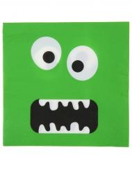 10 tovaglioli verdi con mostro divertente