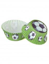 50 pirottini per cupcakes verdi calcio