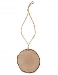4 segnaposto rondelle di legno con corda