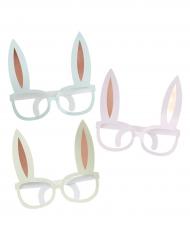 6 occhiali con orecchie da coniglio oro rosa