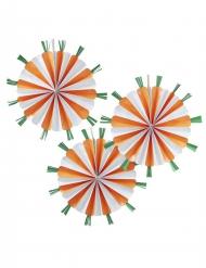 3 rosoni con carote arancioni