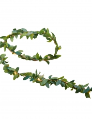 Ghirlanda luminosa con foglie di alloro artificiali