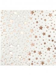 20 tovagliolini con stelle oro rosa