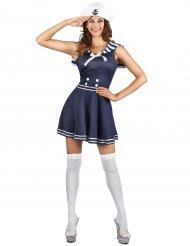 Costume blu da marinaio per donna