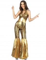 Travestimento tuta disco dorata per donna