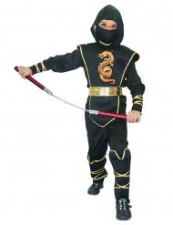 Travestimento ninja nero bambino