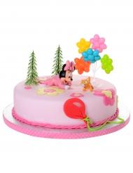 Decorazione per torta Minnie Bebe™ kit 5 pezzi