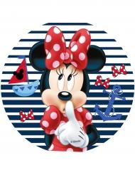 Disco di ostia Minnie™ tema marino 14.5 cm