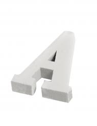 Lettera in legno bianco A 5 cm