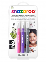 Set 3 pennarelli per trucco girly Snazaroo™